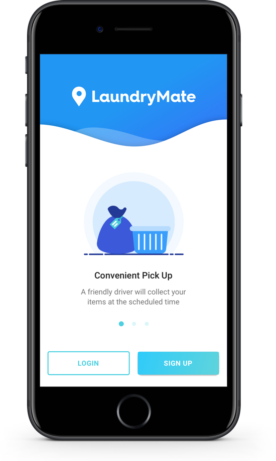 LaundryMate launch screen